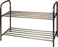 Практичная двухъярусная этажерка для хранения обуви и других вещей «комфорт этк2» - минималистический стиль