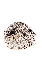 30419 Стильное кольцо из меди, покрытой родием и золото 24 карата