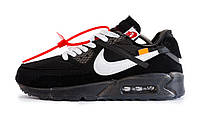 Кроссовки Мужские Nike Air Max 90 X Off-White (черные) Top Repliс ... 8b9aad23445