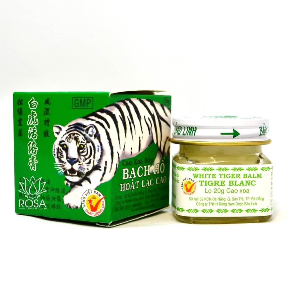 Мазь Белый тигр (Bach Ho  White tiger balm, Baolinh), 20 грамм