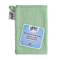 Мочалка с органического хлопка  для  ванны XKKO, мятная