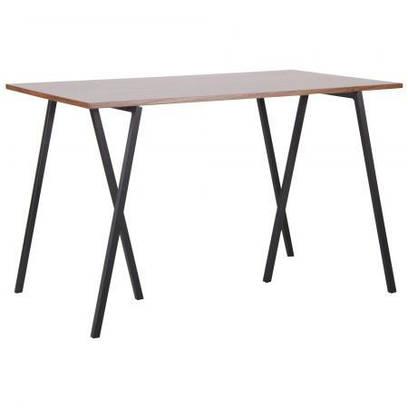 Стол обеденный Роберто DT-1720 черный/МДФ орех