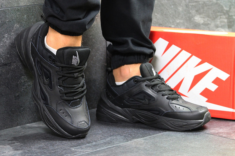d5caee05 Найк М2К текно кроссовки мужские черные кожаные для спорта (реплика) Nike  M2K Tekno Black