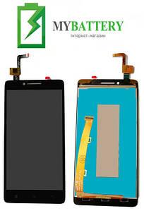 Дисплей (LCD) Lenovo A6000/K3 (K30-T)/K3 (K30-W) с сенсором черный