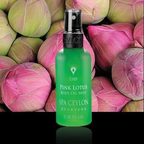 Масло-спрей для тела Розовый Лотос (Pink Lotus Body Oil Mist, Spa Ceylon), 100 мл