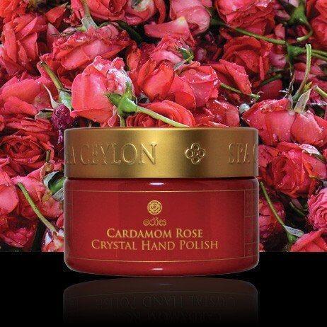 Кристалічний скраб для рук Кардамон і Троянда (Cardamom Crystal Rose Hand Polish, Spa Ceylon), 150 грам