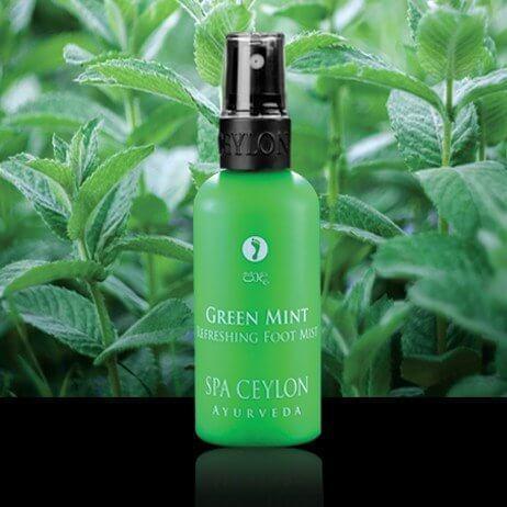 Освежающий спрей для ног Зеленая Мята (Green Mint Refreshing Foot Mist, Spa Ceylon), 100 мл