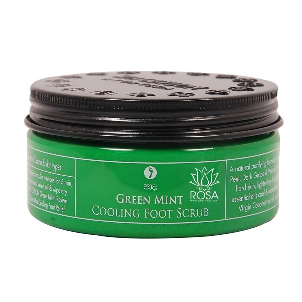 Охлаждающий скраб для ног Зеленая Мята (Green Mint Cooling Foot Scrub, Spa Ceylon), 200 грамм