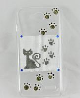 """Чехол накладка на LG L90 D410 Dual ручной работы """"Лунный кот"""""""