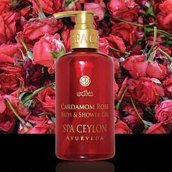 Гель для душу і ванни Кардамон і Троянда (Cardamom Rose Bath & Shower Gel, Spa Ceylon), 250 мл