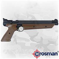 Пневматический пистолет Crosman American Classic P1377BR коричневый мультикомпрессионный
