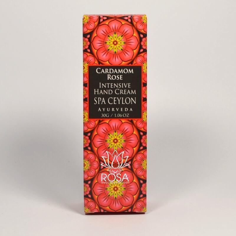 Інтенсивний крем для рук і нігтів Кардамон і Троянда (Cardamom Rose Intensive Hand & Nail Cream, Spa Ceylon), 30г