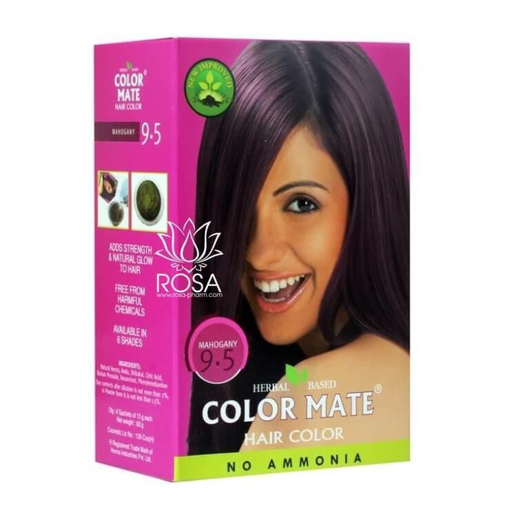 Краска для волос Color Mate 9.5 Mahogany (тон 9.5, красное дерево)