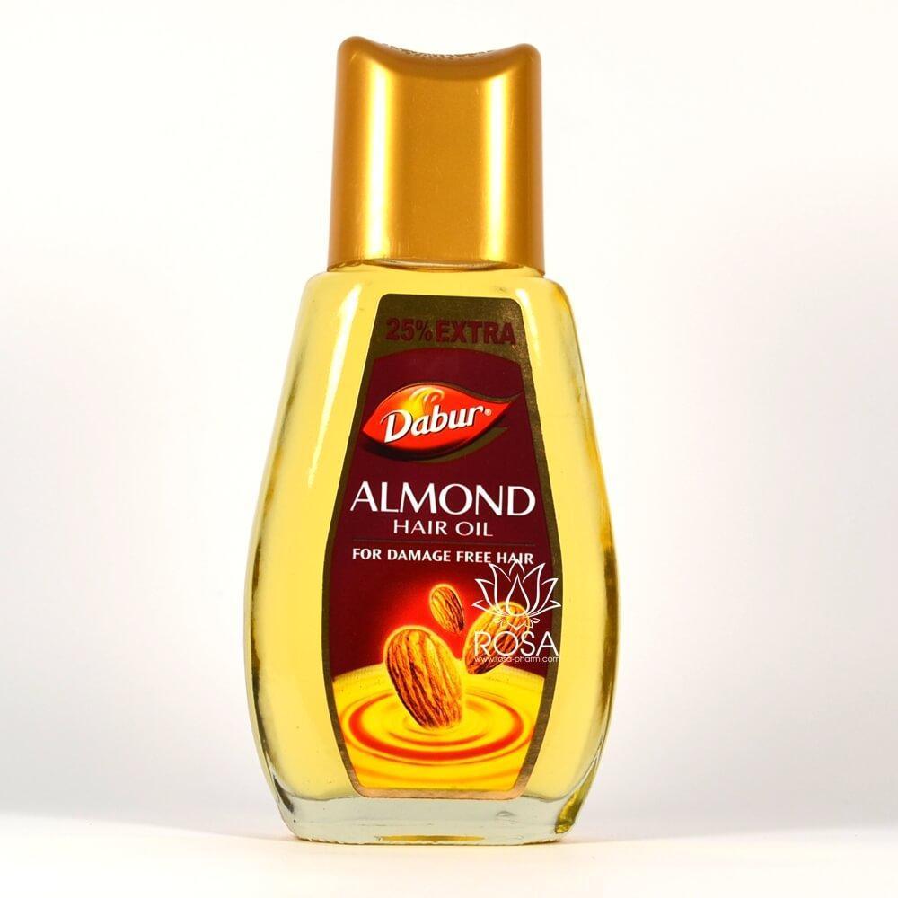 Миндальное масло для волос (Almond Hair Oil, Dabur) для хрупких светлых волос
