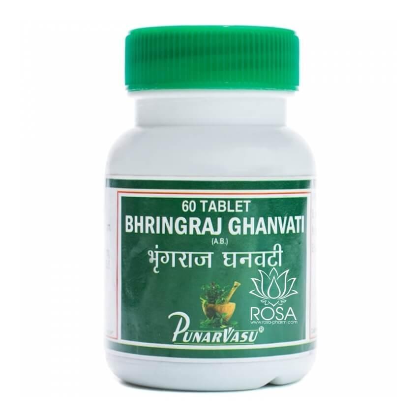 Брингарадж Гханвати (Bhringraj Ghanvati, Punarvasu) питает корни волос, восстанавливает их структуру, 60 табл.