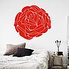Виниловая интерьерная наклейка Роза (ПВХ наклейки стикеры декор цветы растения маки) матовая