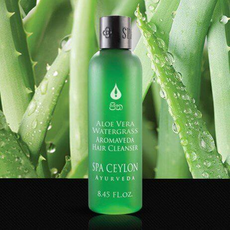 Шампунь для волос Алое вера и Водоросли (Aloe Vera Watergrass Aromaveda Hair Cleanser, Spa Ceylon), 250 мл