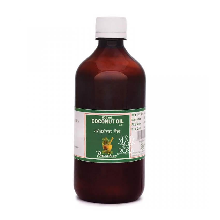 Кокосовое масло (Coconut oil, Punarvasu) сыродавленное, наилучшее качество 500 мл