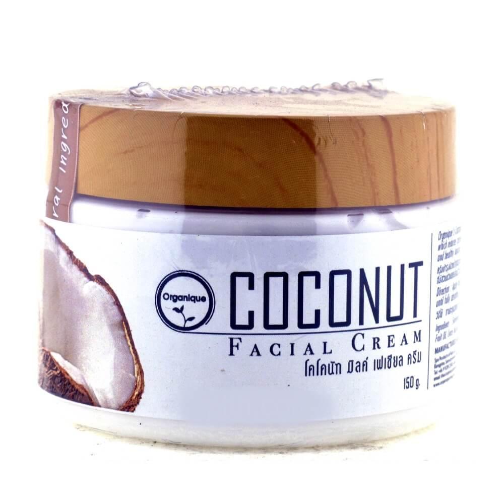 Крем для лица с кокосовым маслом (Coconut Facial Cream, Organique)