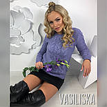 """Женский вязаный свитер """"Косы"""" (6 цветов), фото 9"""