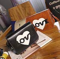 Стильная сумка почтальон Love Красивый нежный кожаный женский аксессуар Очаровательный дизайн Код: КГ5918, фото 1