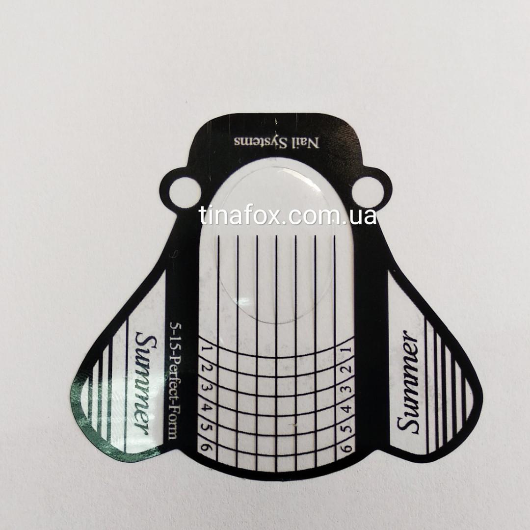 Формы для наращивания ногтей 10 шт прозрачные