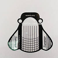 Формы для наращивания ногтей 10 шт прозрачные, фото 1
