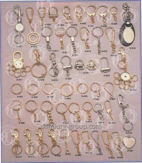 Фурнитура для комплектации брелоков (кольца, карабины и прочее)
