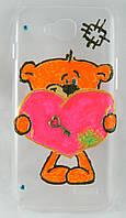 """Чехол накладка на LG L90 D410 Dual ручной работы """"Мишка Teddy"""""""