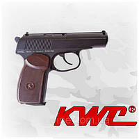 Пневматический пистолет KWC PM KM44DHN Пистолет Макарова ПМ газобаллонный CO2 130 м/с, фото 1