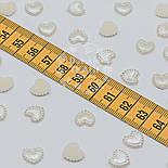 """Набор декора для рукоделия """"Перламутровые сердечки"""" размером 1 см (упаковка 25 шт), фото 3"""