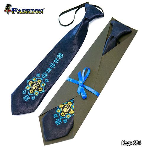 Детский вышитый галстук Николай