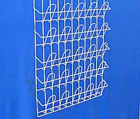 Торгова полка стелаж для поліграфії навісна кошикова 5 рядів по 5 комірок, фото 1