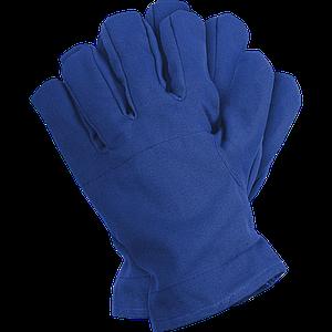 Защитные перчатки RD G 10 тиковые толстая вкладка на хватательной части перчатки. синего цвета.REIS