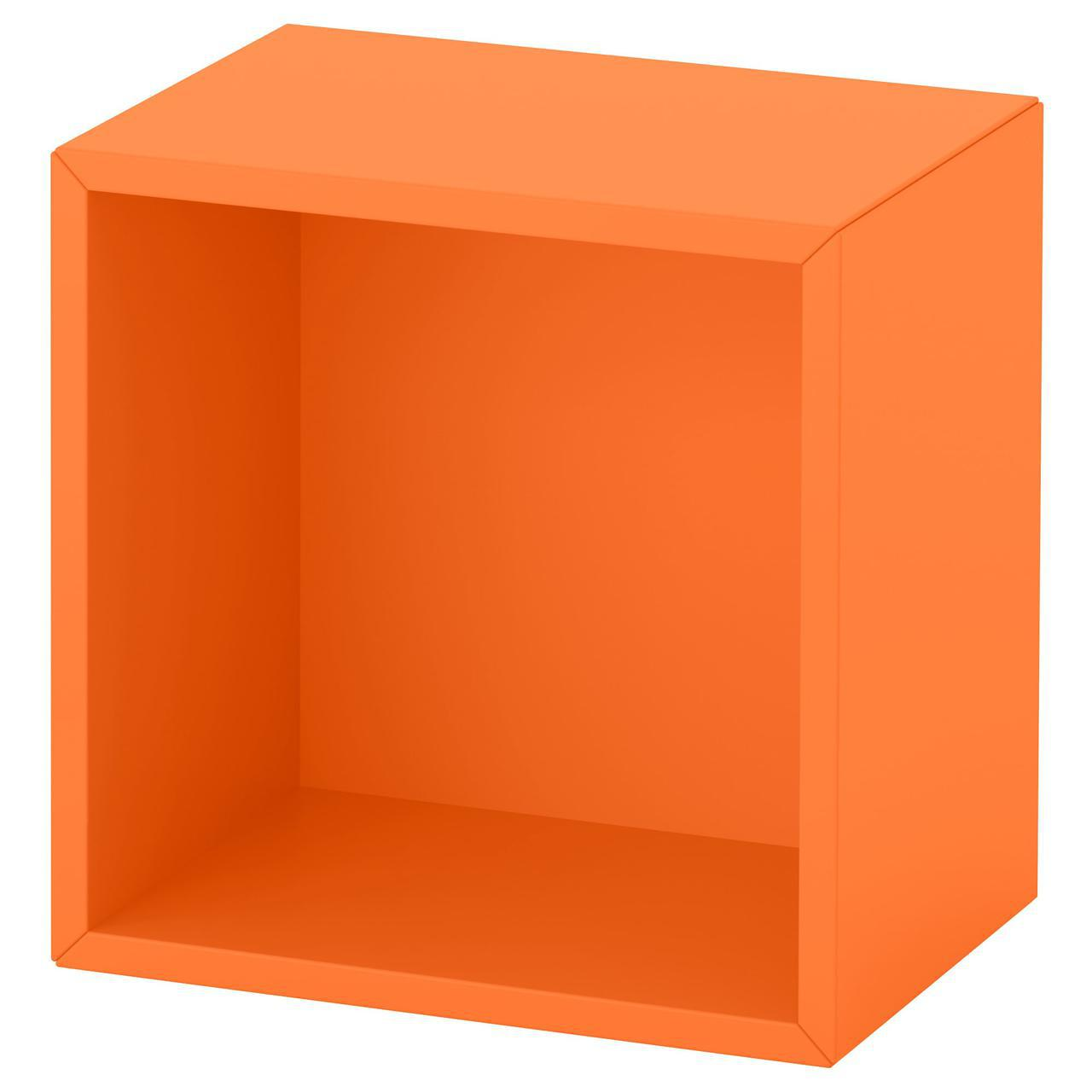Полка настенная IKEA EKET 35x25x35 см оранжевая 092.858.76