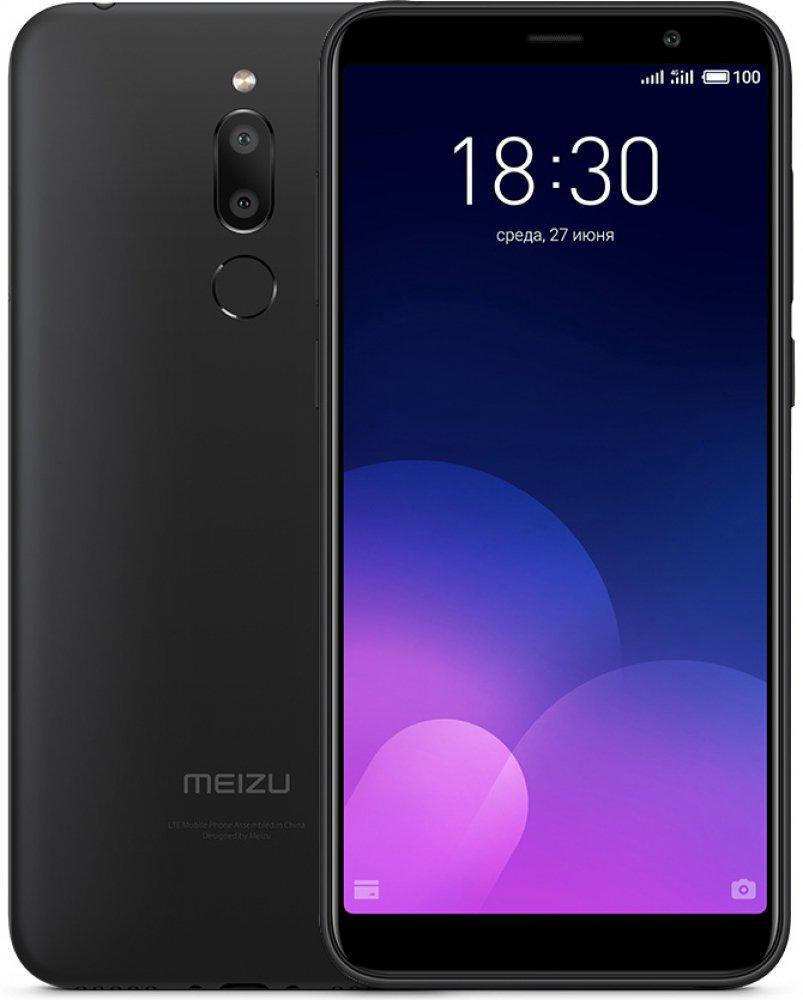 Смартфон Meizu m6t Black 16gb 5.7