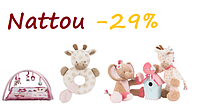 Акция на игрушки Nattou до 30 сентября!
