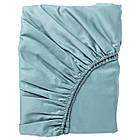 Простыня на резинке IKEA NATTJASMIN 140х200 см голубая 403.370.00, фото 5