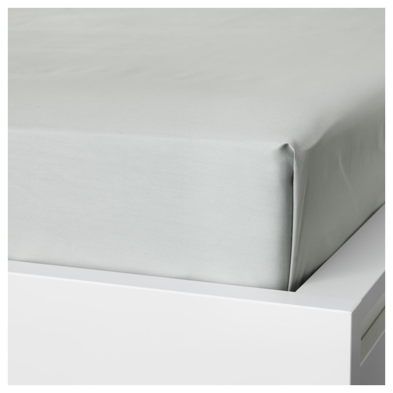 Простыня IKEA NATTJASMIN 240х260 см светло-серая 303.374.68