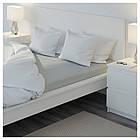 Простыня на резинке IKEA NATTJASMIN 140х200 см светло-серая 103.374.31, фото 5