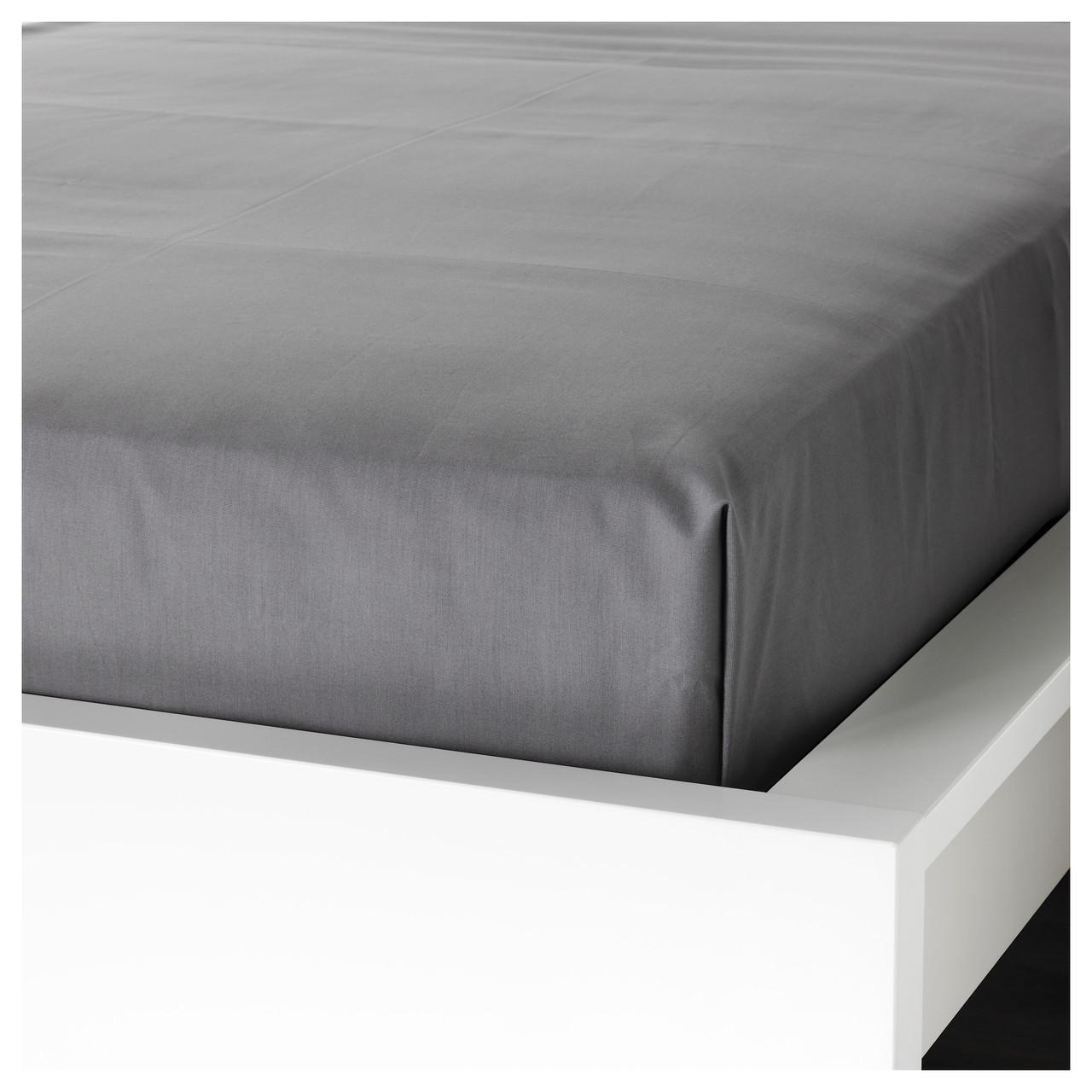 Простыня IKEA ULLVIDE 240х260 см серая 503.369.91