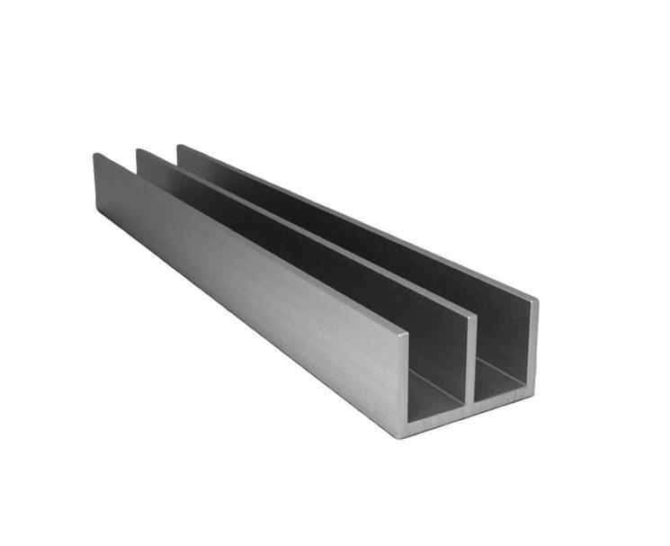 Профиль алюминиевый Ш-образный 19х10х2мм