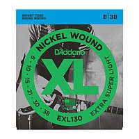 Струни для електрогітари D`ADDARIO EXL130 XL EXTRA SUPER LIGHT (08-38)