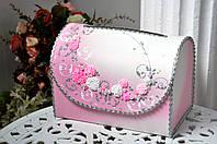 Сундучок свадебный для денег Bonita розовый