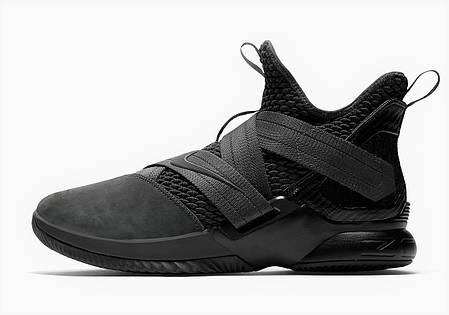 "Кроссовки Nike LeBron Soldier XII SFG EP 12 Zero Dark Thirty ""Black"" (Черные), фото 2"