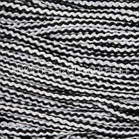 Шнур 5 мм полоска черно-белый 100 м