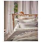 Комплект постельного белья IKEA OFELIA VASS 200х200 см белый 801.330.20, фото 5