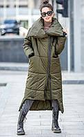 Зимнее пальто - одеяло на синтепухе,оригинального кроя