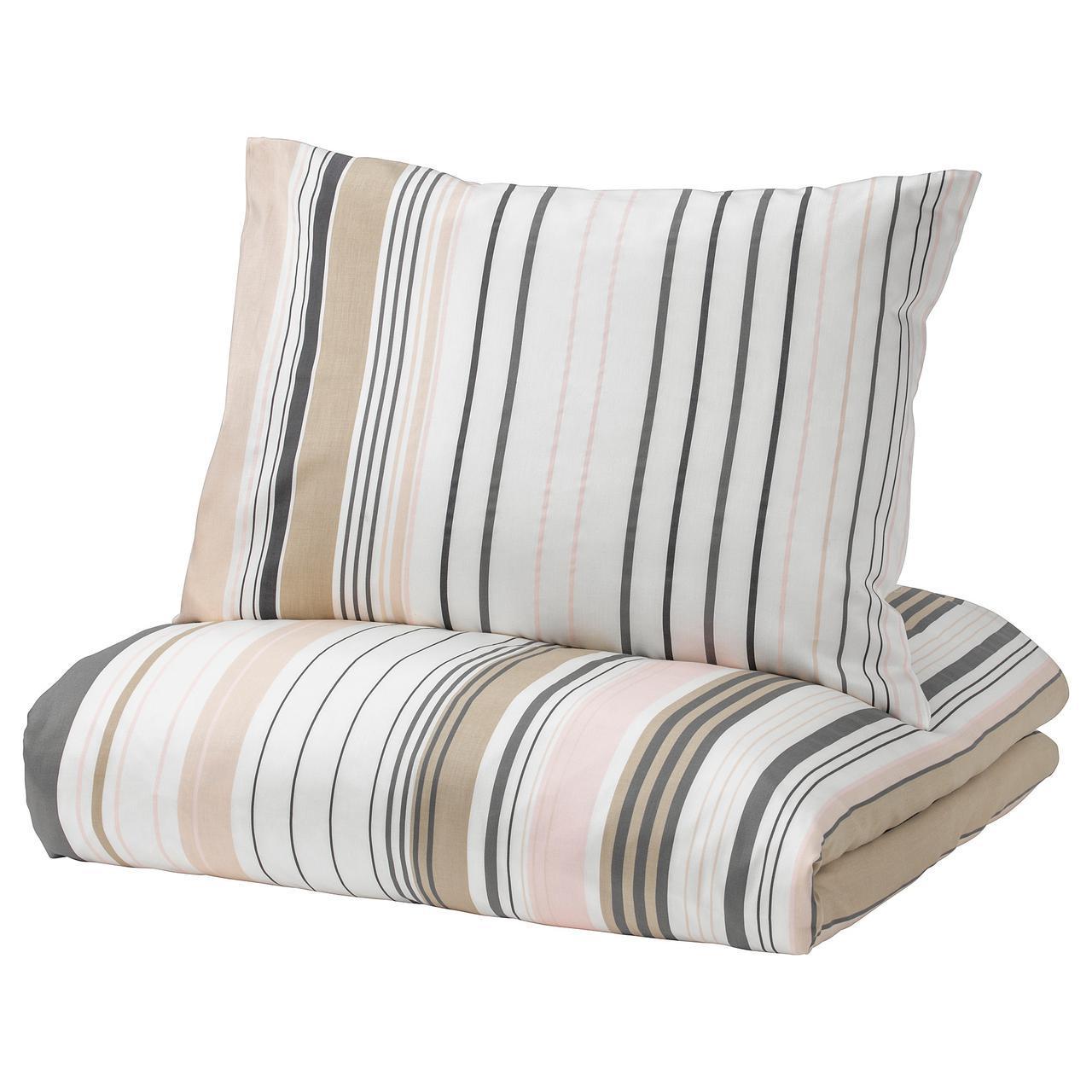 Комплект постельного белья IKEA BLÅRIPS 200х200 см разноцветный в полоску 703.424.01