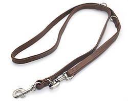 Поводок перестежка для собак кожаный П 2,3/200 коричневый